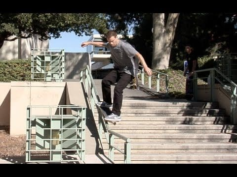 Nate Greenwood fs Grind Pop Out Raw Uncut - E. Clavel