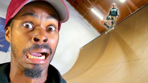 NIGEL'S SCARIEST SESSION ON BRAILLE'S VERT RAMP! | Braille Skateboarding