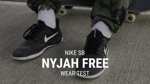 Nike SB Nyjah Free Skate Shoes Wear Test Review - Tactics.com - Tactics Boardshop