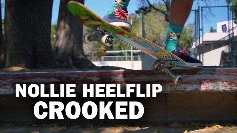 Nollie Heelflip Crook: Sierra Fellers || ShortSided - Brett Novak