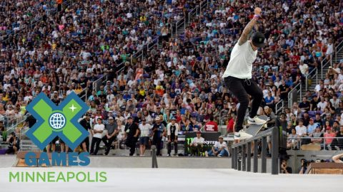Nyjah Huston wins Men's Skateboard Street bronze | X Games Minneapolis 2017 - X Games