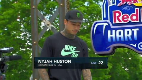 Nyjah Huston's Dominating 1st Place Runs: 84.83 | Hart Lines 2017 - Red Bull