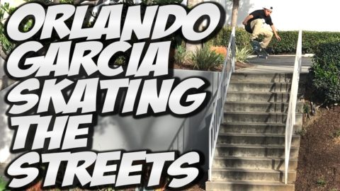 ORLANDO GARCIA SKATING THE STREETS !!! - A DAY WITH NKA - - Nka Vids Skateboarding