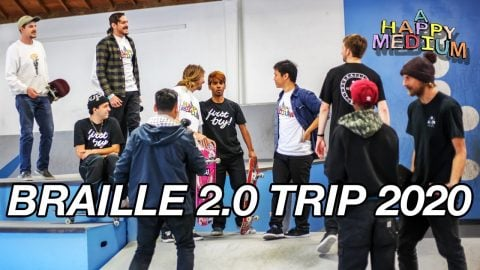 OUR ENTIRE BRAILLE 2.0 TRIP 2020 | A Happy Medium Skateboarding