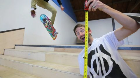 OVERCOMING THE FEAR OF KICKFLIPPING THE 5 STAIR | LIVE SKATE SUPPORT - Braille Skateboarding