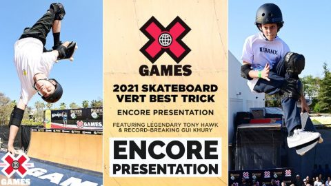 PACIFICO SKATEBOARD VERT BEST TRICK with TONY HAWK   X Games 2021   X Games