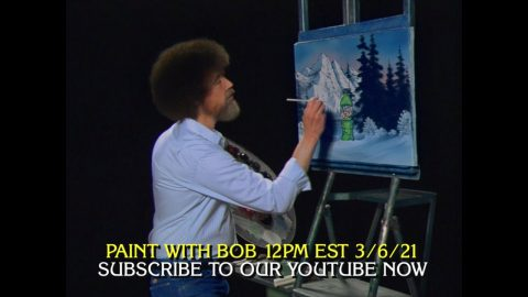 Paint a Bottle of MTN DEW with Bob Ross   Mountain Dew