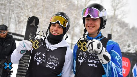Palmer Lyons and Gus Kenworthy win gold in Special Olympics Unified Skiing | X Games Aspen 2020 | X Games