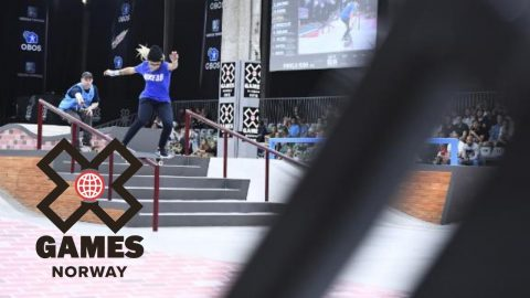 Pamela Rosa wins Women's Skateboard Street bronze | X Games Norway 2018 - X Games