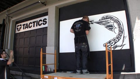 Pawel Swanski painting at Tactics, Oregon. - Turbokolor Co. Official Channel