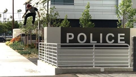 PETER VILLALBA SKATING POLICE STATION GAP !!! - A DAY WITH NKA - - Nka Vids Skateboarding