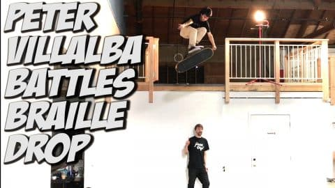 PETER VILLALBA V S  THE BRAILLE DROP !!! - A DAY WITH NKA - - Nka Vids Skateboarding