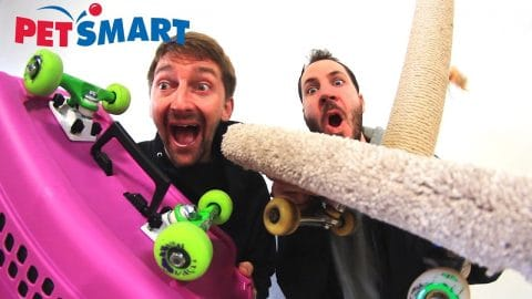 PETSMART SKATE EVERYTHING WARS! - Braille Skateboarding