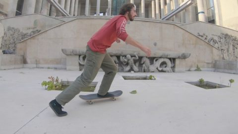 Playing skateboards at Le Dome with Ethan Loy | Madars Apse