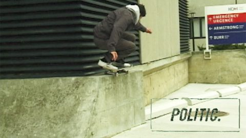 Politic | Joshua Bos in Steel - TransWorld SKATEboarding