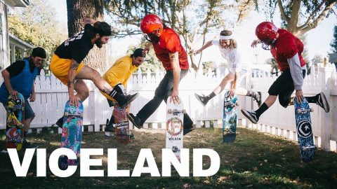 Pro Skateboarders Become Jocks For The Day | VICELAND