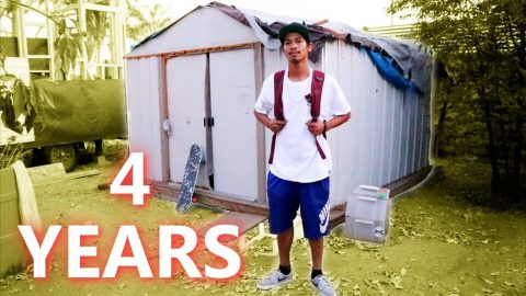 PRO SKATER LIVES IN SHED - Luis Mora