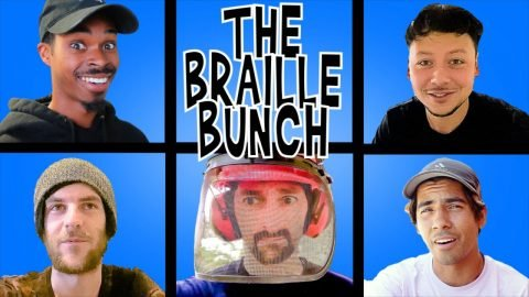 QUARANTINE DAY IN THE LIFE OF BRAILLE!   Braille Skateboarding