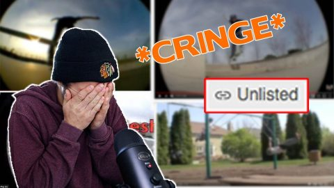 REACTING TO MY FIRST SKATE VIDEOS *CRINGE* | Max Williams