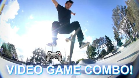 REAL LIFE VIDEO GAME TRICK COMBO! - Luis Mora
