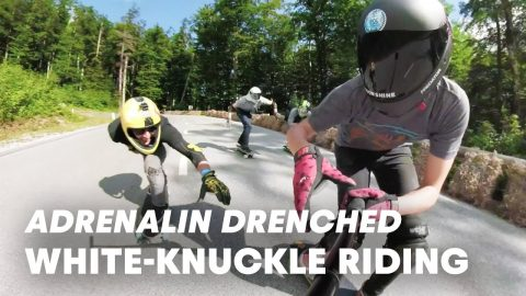 Red Bull No Paws Down or Downhill Longboarding at Full Speed. | Red Bull