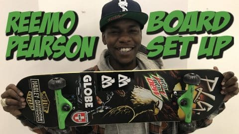 REEMO PEARSON SOPHISTICATED BOARD SET UP AND INTERVIEW !!! - Nka Vids Skateboarding