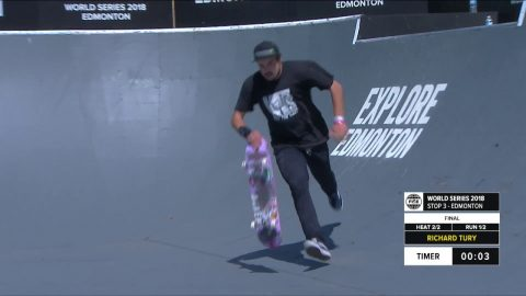 Richard Tury 2nd Place - Skateboard Street Final | FISE World Series Edmonton 2018 | FISE