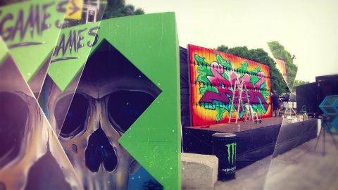 Risk vs X Games Graffiti mural – Live at Soundset Festival | Monster Energy
