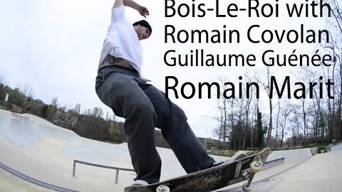 Romain Covolan @ Bois-le-Roi with Guillaume Guénée, Romain Marit - LeSiteDuSkateboard Videos