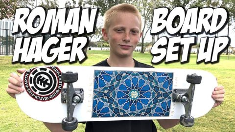ROMAN HAGER BOARD SET UP AND SKATE SESH !!! - NKA VIDS - | Nka Vids Skateboarding