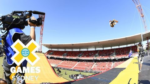 Rony Gomes qualifies first in Skateboard Big Air   X Games Sydney 2018   X Games