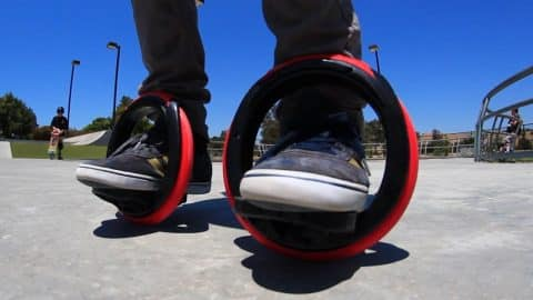 SELF-PROPELLED ORBITWHEEL SKATES?! - Braille Skateboarding