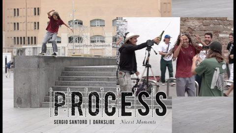 Sergio Santoro Battles a Darkslide on the Legendary MACBA Outledge | The Berrics