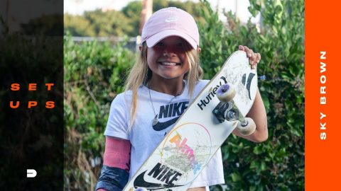 Setups: 11-Year-Old Sky Brown Breaks Down Her Choice Of Skateboard Gear | Dew Tour