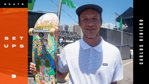 Setups: Carlos Ribiero Switch Jam Winning Board Setup | Dew Tour