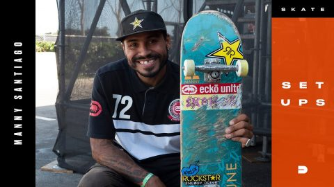 Setups: Manny Santiago Feather Weight Skateboard | Dew Tour