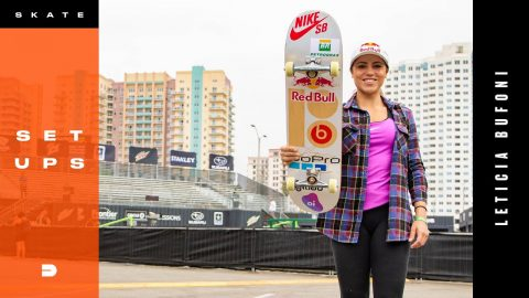 Setups: Renowned Female Skateboarder Leticia Bufoni's Skate Gear | Dew Tour