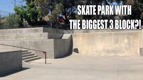 SKATE PARK WITH THE BIGGEST 3 BLOCK?! | Vinh Banh