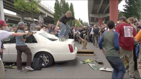 Skateboarders Destroy A Cadillac On Go Skateboarding Day 2018 | CCS