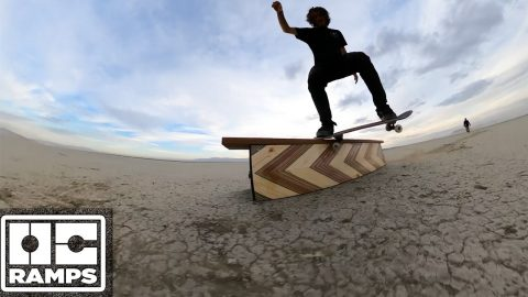 Skateboarding on Salt Flats in the desert! | OC Ramps