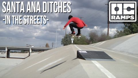 Skateboarding the Santa Ana riverbed and ditches - OC Ramps