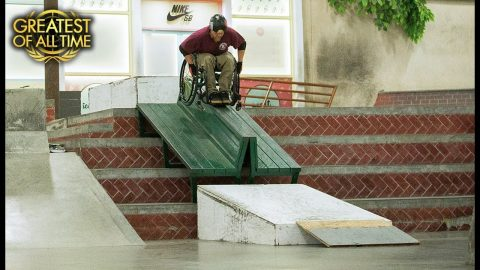 Skateboarding With A Wheelchair | The Berrics