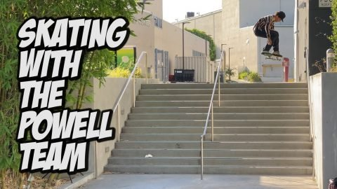 SKATEBOARDING WITH THE BROS Feat  THE POWELL TEAM !!! - NKA VIDS | Nka Vids Skateboarding