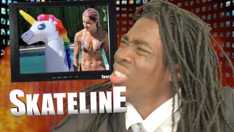 SKATELINE - Leticia Bufoni & Chris Cole Off Plan B, Nyjah Huston, Andrew Reynolds, Evan Smith | ThrasherMagazine