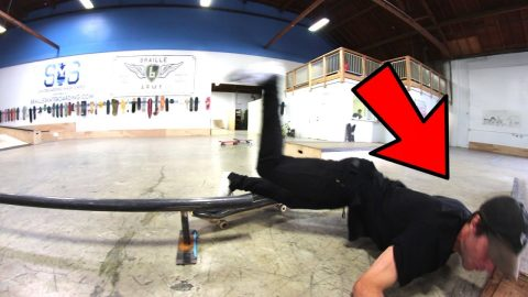 SKATER NEARLY SMASHES HIS FACE ON YOU MAKE IT WE SKATE IT! - Braille Skateboarding
