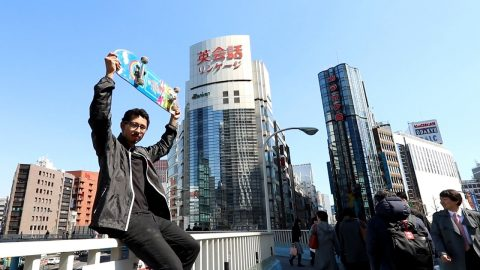 SKATER TRAVELS ACROSS WORLD TO JAPAN!! - Luis Mora