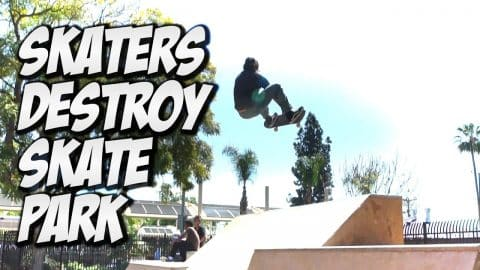 SKATERS DESTROY AMAZING SKATE PARK !!! - A DAY WITH NKA - - Nka Vids Skateboarding
