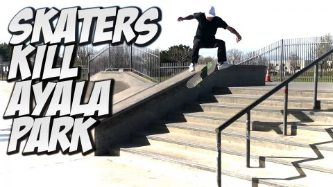 SKATERS KILL AYALA SKATE PARK !!! - A DAY WITH NKA - - Nka Vids Skateboarding