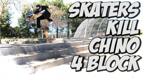 SKATERS KILL BIG 4 BLOCK AND MORE !!! - A DAY WITH NKA - - Nka Vids Skateboarding