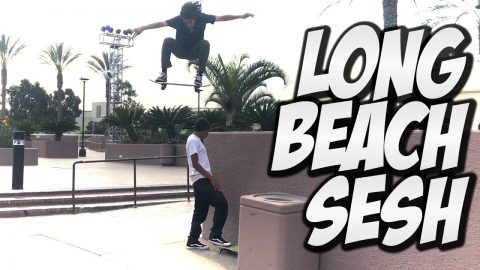 SKATERS SESH LONG BEACH AND MUCH MORE !!! - NKA VIDS - - Nka Vids Skateboarding